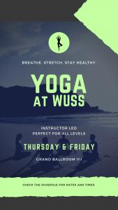 flyer re yoga in Yoga Studio in Hotel fitness Center